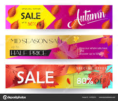 discount gift cards how and mid season sale web banners set autumn sale discount gift card
