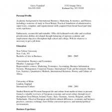 example of a college graduate resume effective sample student