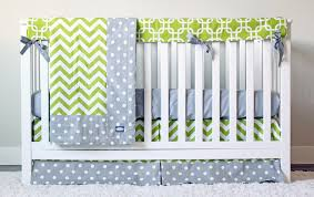 Baby Boys Crib Bedding by Crib Bedding Lime Green And Grey Baby Boy Crib Set U2013 Giggle Six Baby