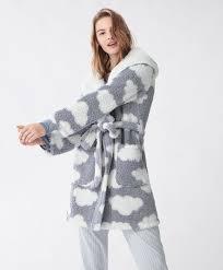 robe de chambre hiver robe de chambre polaire nuages nuit dame hiver robe