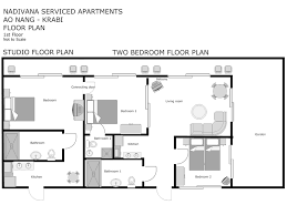 Floor Plan Of An Apartment Nadivana Serviced Apartments Fully Serviced Studio Apartments In