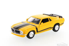 1970 Black Mustang 1970 Ford Mustang Boss 302 Hard Top Yellow With Black Showcasts