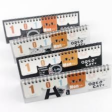 calendrier photo bureau nouveau mignon papier calendrier de bureau petit calendrier