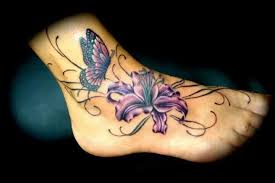 beautiful orchid and butterfly tattoomagz