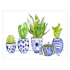 urban cactus ring holder images Cactus in blue white pots 12 x 16 in at home jpg