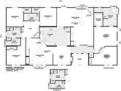 5 Bedroom Mobile Homes Floor Plans Love This Floorplan 5 Bedrooms And A Parents Retreat Off The