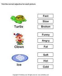 describing words worksheet13 esl efl worksheets kindergarten