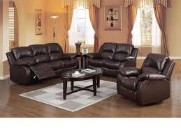 Recliner Sofa Suite Brown Leather Recliner 3 2 1 Seater Sofa Suite Homegenies
