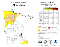 Minnesota State Map United States Drought Monitor U003e Current Map U003e State Drought Monitor