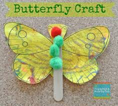 butterfly craft a great activity for the very hungry caterpillar