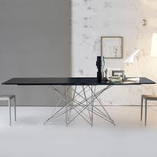 octa with chrome base table by bonaldo