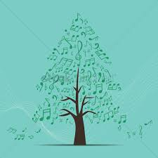 music notes in a shape of pine tree vector image 1507341