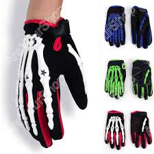 halloween skeleton gloves motorcycle motocross cycling dirt bike full finger gloves hand
