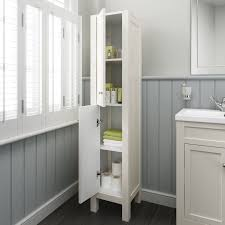 Bathroom Storage Cabinets 1600mm Tall Ivory Floor Standing Bathroom Furniture Cabinet