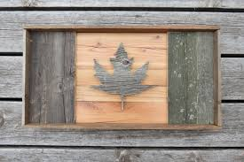 Canadian Flag Lingerie Barn Board Canadian Flag Patriotic Decor Rustic Canada Day