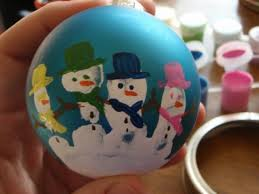 handprint snowman ornament gift for parents from kinders