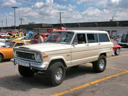 white jeep 4 door wagoneer fotos de carros