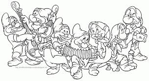snow white and the seven dwarfs coloring pages in coloring pages