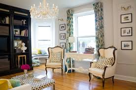 French Wingback Chairs Eclectic Living Room Summer Thornton - Wing chairs for living room