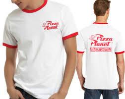 Pizza Halloween Costume Pizza Planet Disney Toy Story Ringer Shirt Halloween Costume