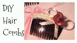 how to diy shabby chic style hair clips combs hair accessories