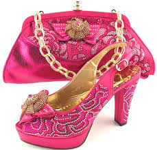 wedding shoes and bags fuchsia color italian shoes matching bags shoes and