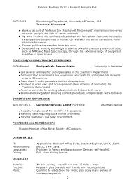 sample research resume researcher cv template job description