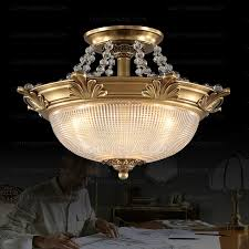 European Ceiling Lights European Semi Flush Antique Brass Ceiling Light For Bedroom