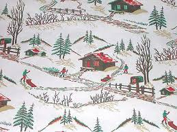 country christmas wrapping paper vtg christmas store wrapping paper gift wrap 2 yards snowmen deer