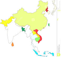 Map Of East Asia Blank by South East Asia Map Simple East And South Asia Evenakliyat Biz
