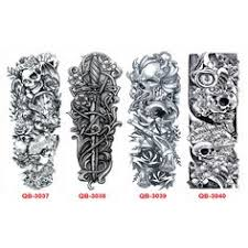 3pcs waterproof temporary tattoos sleeve body art men women