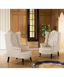 French Wingback Chair Baxton Studio Hudson Classic French Country Style Modern Retro