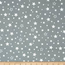 kaufman cozy cotton flannel stars grey discount designer fabric