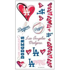 los angeles dodgers tattoos by mlb 2 49 los angeles dodgers