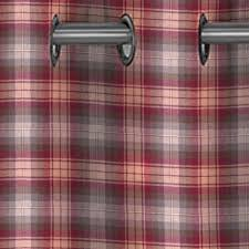 Pink Tartan Curtains Eyelet Tartan Curtains Made In Scotland