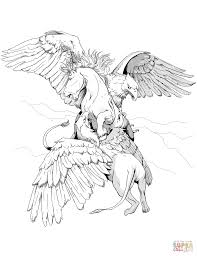 dungeons and dragons griffon coloring page free printable