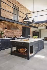 kitchen design idea deep blue kitchens marble island deep