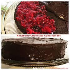 raspberry chocolate birthday cake gf sf meal planning mommies