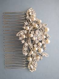 hair comb accessories vintage style bridal hair combcrystal rhinestone and pearl