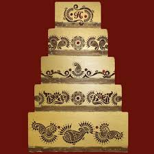 Mehndi Cake Decorating Stencil by Designer Stencils