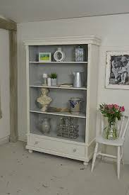 How To Paint A Bookcase White by Painted Bookshelves Antique Painted Bookcase The Consortium