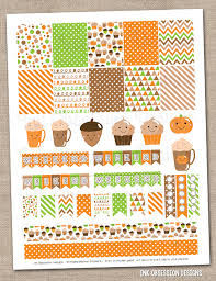 coffee planner stickers printable ink obsession designs new happy fall pumpkin coffee planner stickers