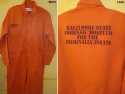 1950 Halloween Costume Hannibal Lecter Orange Baltimore Prison Jumpsuit Halloween Costume