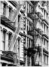 typical new york stairs in china town new york coloring pages