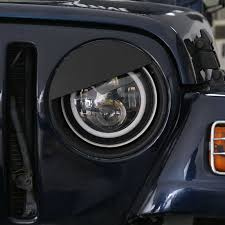 jeep angry headlights black angry bird headlight cover bezels for 1997 2006 jeep