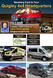 Craigslist Tillamook County Oregon by Ford Commercial Vans 4x4 Vans Serving Oregon And Washington
