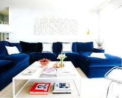 blue living room furniture ideas example of a transitional living
