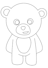 standing teddy bear coloring free printable coloring pages