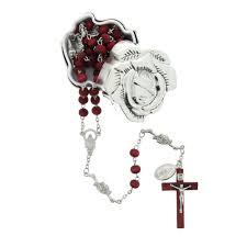 petal rosary petal rosary box w scented rosary the catholic company