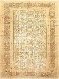 Neutral Persian Rug Decorative Antique Persian Bibkabad Shabby Chic Rug 50680 Nazmiyal